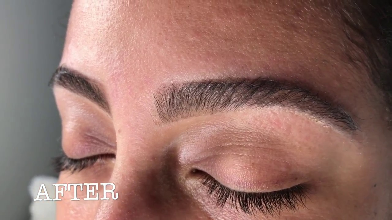 Eyebrow Waxing Before And After Youtube