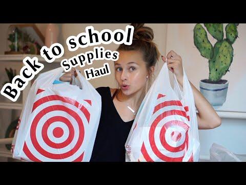back to school supplies haul 2018 (target haul)