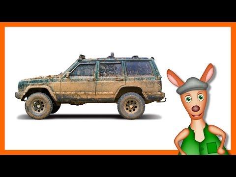 FOUR WHEEL DRIVE. MONSTER TRUCKS   Trucks videos for children. Preschool & Kindergarten learning.