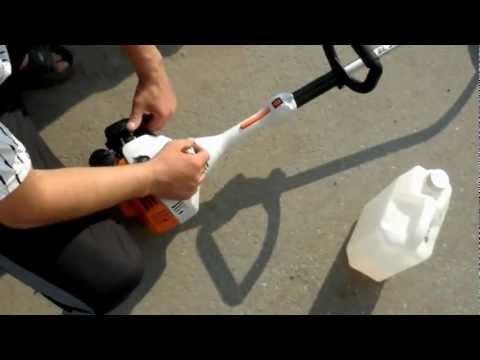 Как пользоваться бензокосой штиль видео