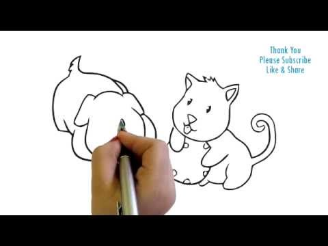 how to draw two baby puppies drawing easy drawing youtube
