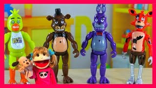 five nights at freddy s toys fnaf toys unboxing action figures set animated toy review bonnie chica