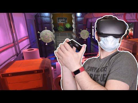 Battling Coronavirus In VR! - Free Oculus Quest Arena-Scale Game