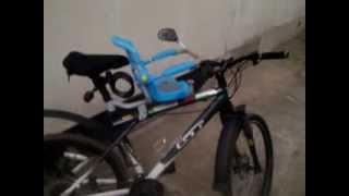как сделать детское кресло на велосипед часть1(как сделать самостоятельно детское кресло на велосипед с подручными запчастями, видео состоит из двух..., 2013-09-11T09:34:07.000Z)