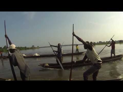 Pirogue Traders of the Congo River