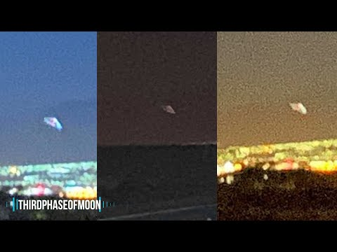 WHOA! 300 Ft Triangular UFO JUST Filmed Over Las Vegas!