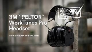 3M™ PELTOR™ WorkTunes™ Pro Headset – The Workers' Choice