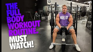 MY FULL BODY WORKOUT ROUTINE. MUST WATCH!