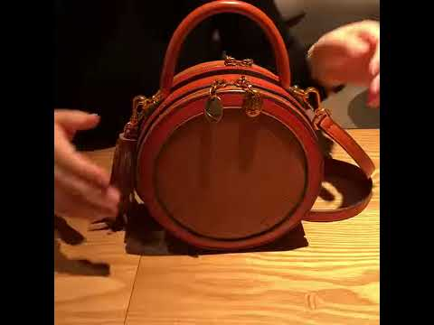 166dd04e0 The New Leather Circle Round Crossbody Bags Purses. Annie Jewel