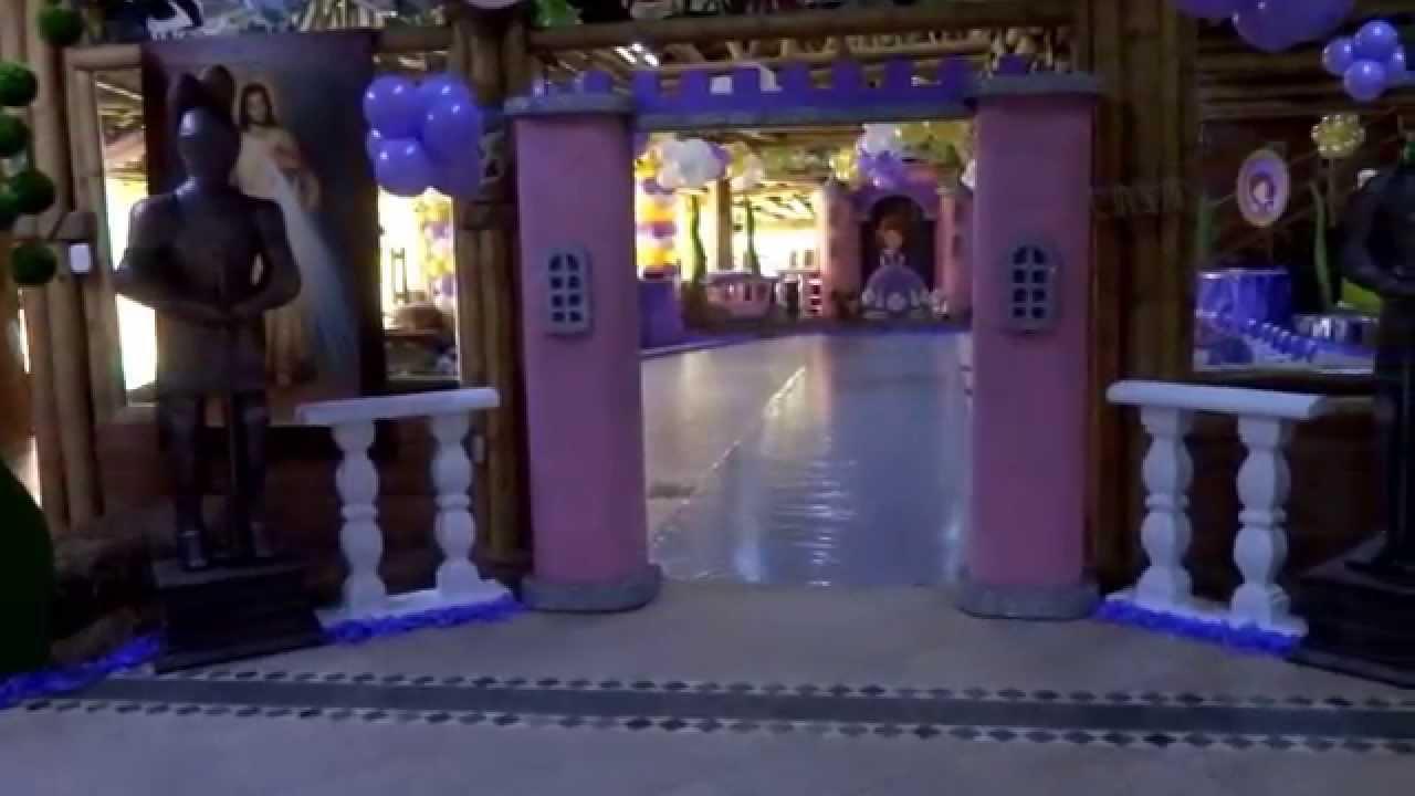 Decoraci n fiesta tem tica princesita sofia guadalupe 2 - Lo ultimo en decoracion ...