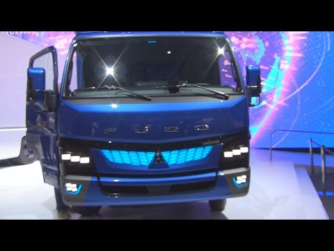 Mitsubishi Fuso eCanter Lorry Truck (2017) Exterior and Interior in 3D