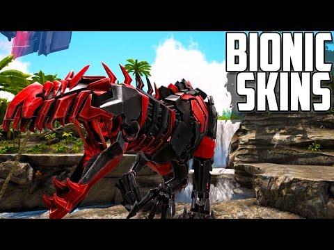 HOW TO GET BIONIC SKINS | Rex & Giga Bionic Skins | Ark: Survival Evolved
