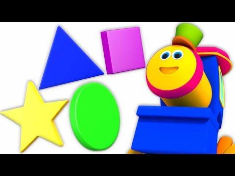 Serie De Formas Divertidas | Niños Aprendiendo Video | Bob Train Songs | Shapes Fun Series For Kids