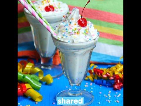 Funfetti Cake Batter Milkshake YouTube