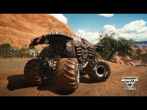 Monster Jam Steel Titans - Max-D Black - Open World Free Roam Gameplay (PC HD) [1080p60FPS]
