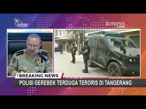 Densus 88 Gerebek Tiga Terduga Teroris di Tangerang