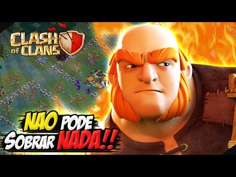 DESTRUINDO ATE OS MUROS DA CC5 FULL - CLASH OF CLANS