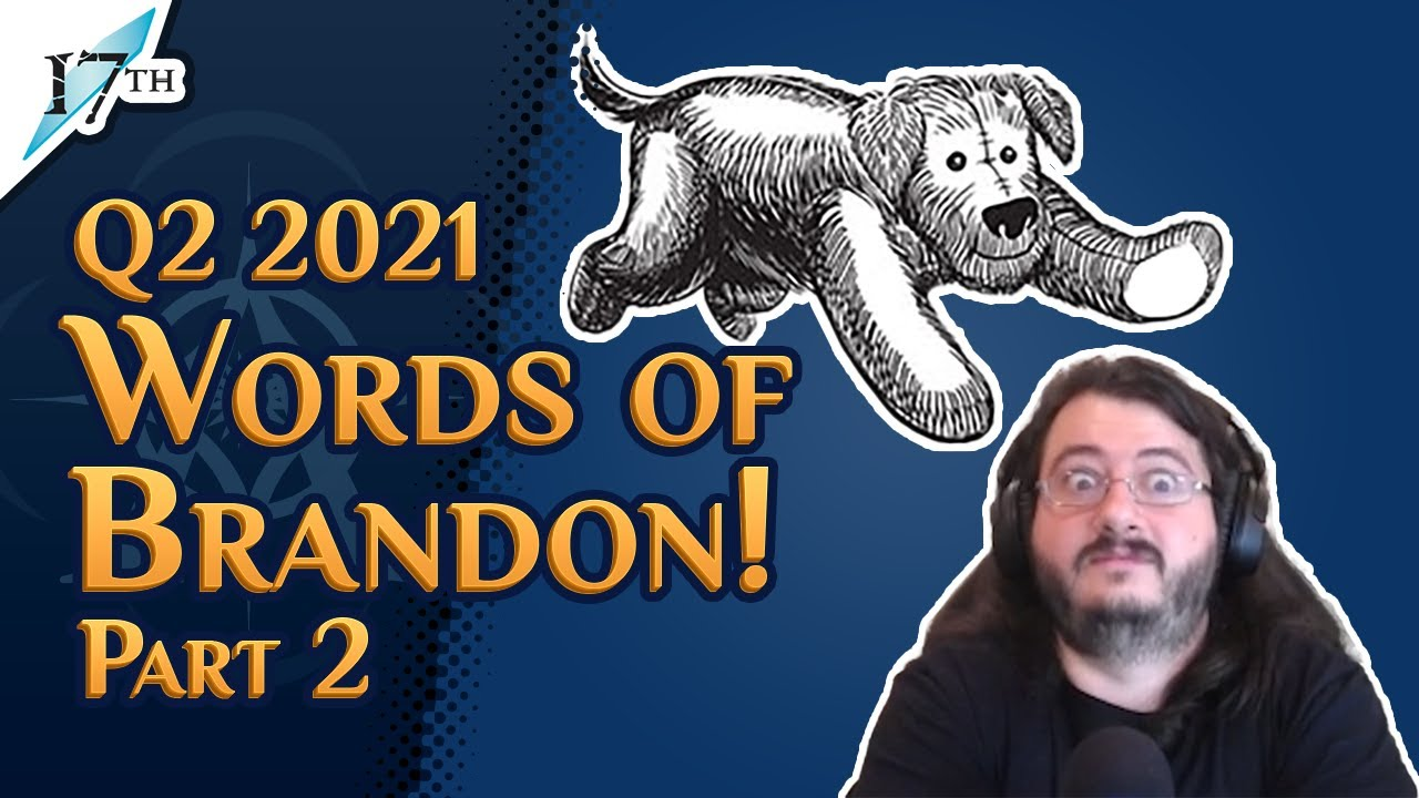 TenSoon was going to be WHAT? | Q2 2021 Words of Brandon Part 2 | Rhythm of War Shardcast