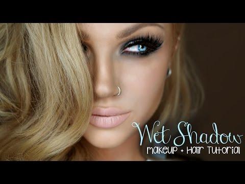 Wet Smokey Eye Makeup