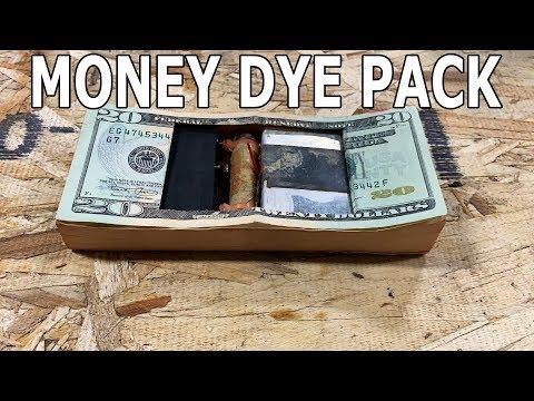 Bank Teller Money Dye Pack Cut in Half with Waterjet