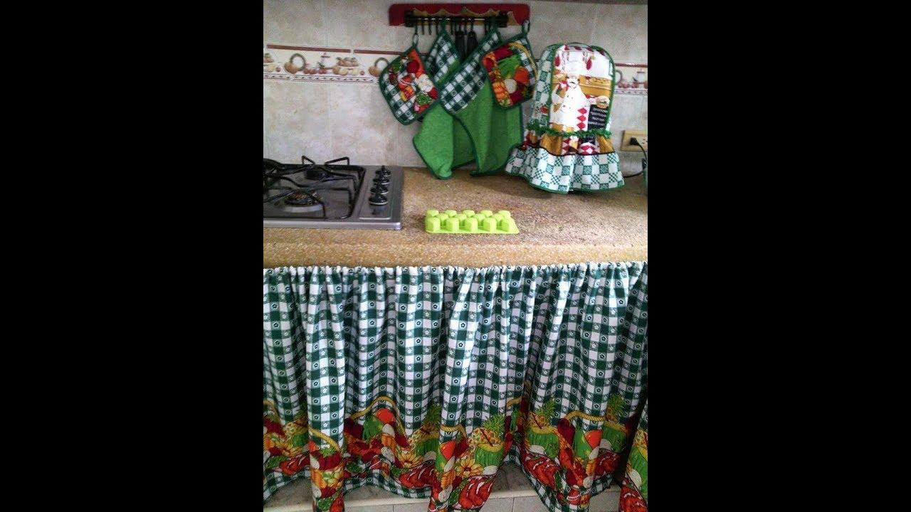 Diy cortinas para el mes n de la cocina youtube for Cortinas para muebles de cocina