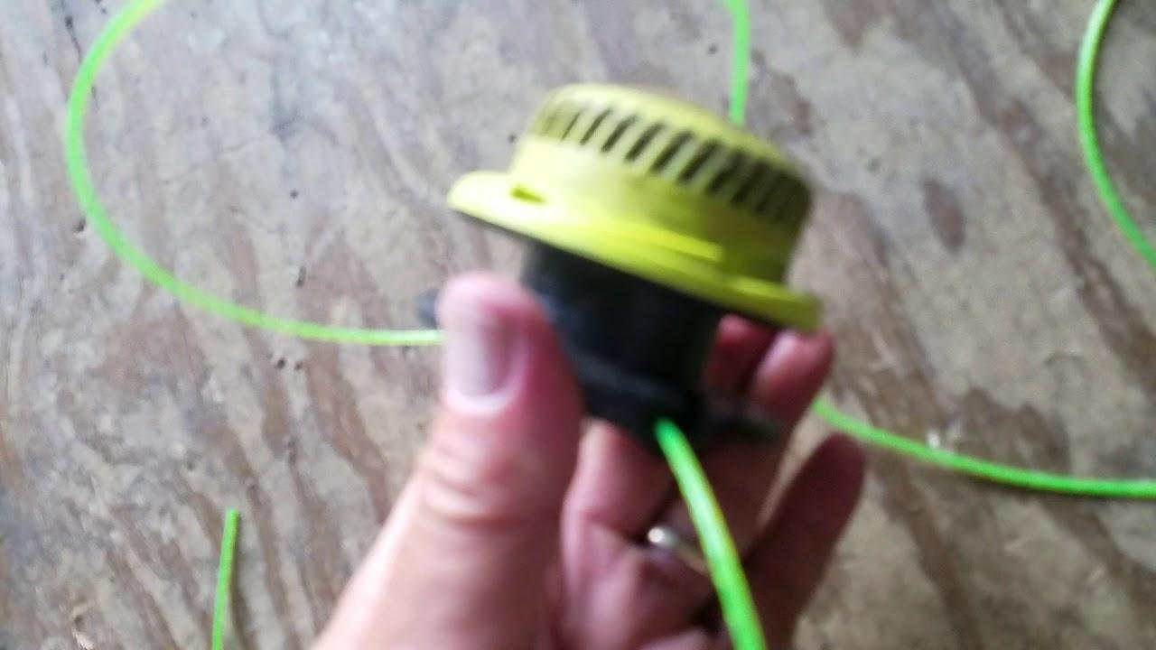 Ryobi 40v string trimmer, Restringing