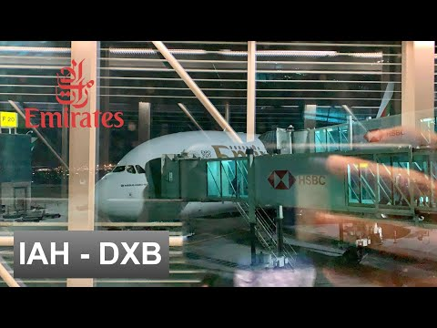FLIGHT REPORT | EMIRATES AIRBUS A380-800 (Economy Class) | HOUSTON - DUBAI
