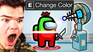CHANGING COLOR As The IMPOSTOR In AMONG US! (Cheat)