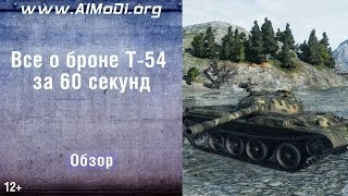 Средний танк Т-54. Все о броне за 60 секунд. Зоны пробития Т-54. Схема бронирования Т-54. AlMoDi