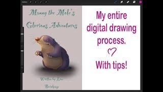 PROCREATE TIPS  My entire digital drawing process with tips along the way :D