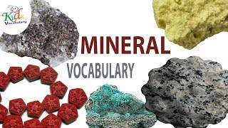 Vocabulary Practice|Rocks and Minerals Vocabulary| English Words | Toddler Learning | Kids