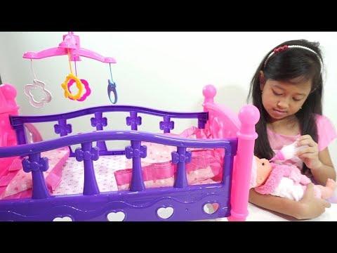 Mainan Anak Tempat Tidur Boneka Bayi bisa diayun 💖 Menidurkan Boneka Bayi Lucu 💖 Let's Play Jessica