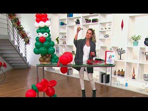 Lleg diciembre aprende a hacer decoraciones de navidad - Decoracion de navidad con globos ...