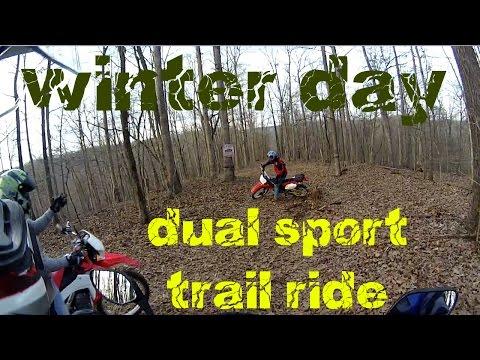 Winter Day Dual Sport Trail Ride Part 2 Honda CRF250L & CRF230L Adventure
