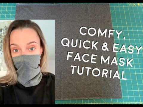 how-to-make-comfy,-quick-&-easy-face-mask-at-home-in-5-minutes!-diy-face-mask,-no-elastic!