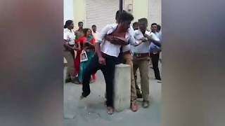 Video: Chennai traffic cops assault woman and son for riding triples on a bike