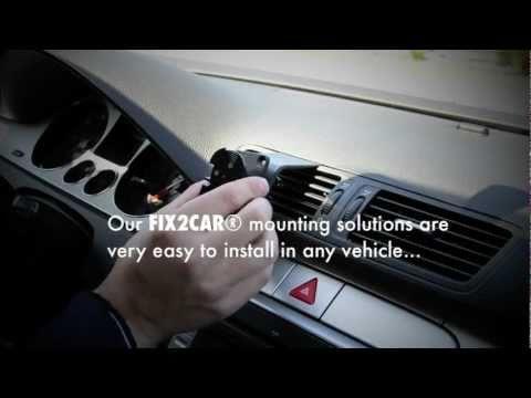 FIX2CAR® - by Kram Telecom A/S (Cell phone car holder / mount)