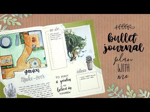 Plan With Me Garden Make-over - Bullet Journal Nederlands 2018   CreaChick