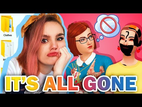 I DELETE ALL MY CUSTOM CONTENT? | Sims 4 CC Shopping