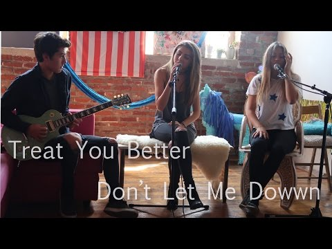 Treat You Better x Don&39;t Let Me Down cover  mashup by Jada Facer and Neriah Fisher