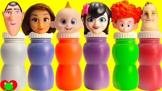 Disney The Incredibles 2 and Hotel Transylvania 3 Slime Bottles thumbnail