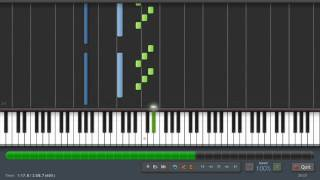 Bach-Prelude in C (Well Tempered Clavier Book)  Piano Tutorial (Synthesia) + Sheet Music & MIDI