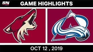 NHL Highlights | Coyotes vs Avalanche - Oct 12th 2019