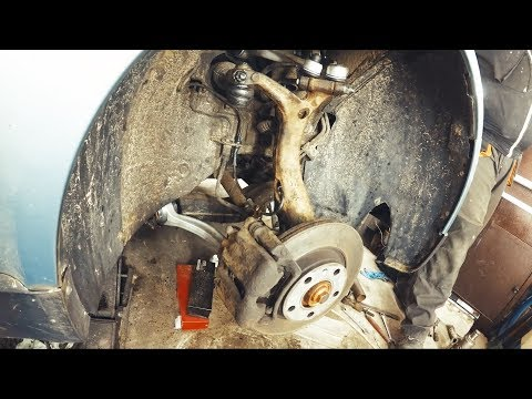 Passat B5 Audi A4/A6 Замена рычагов передней подвески Как заменить подвеску