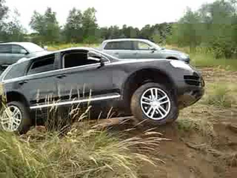 Touareg in offroad action