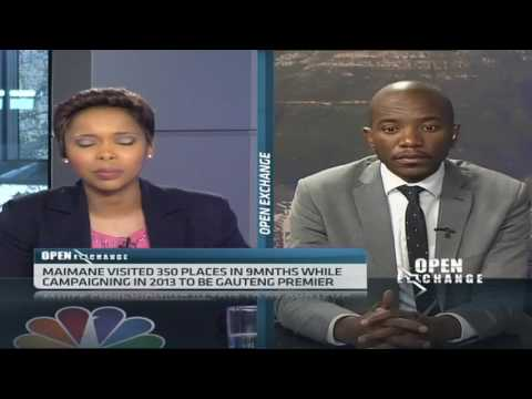 S.Africa's Maimane discusses parliamentary position