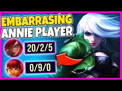 ANNIE GETS ABUSED BY RANK 2 KATARINA! WHAT A STOMP! - League Of Legends