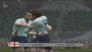 World Soccer Winning Eleven 9 Xbox Gameplay - Bend It Like