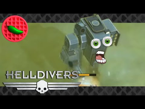 Turrets & Tentacles...AND MECHS! -- Let's Play Helldivers (Steam PC) (Local co-op)