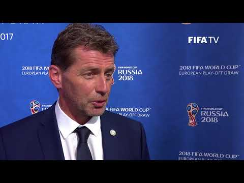 Michael Skibbe - European Play-Off Draw Reaction (EXCLUSIVE)